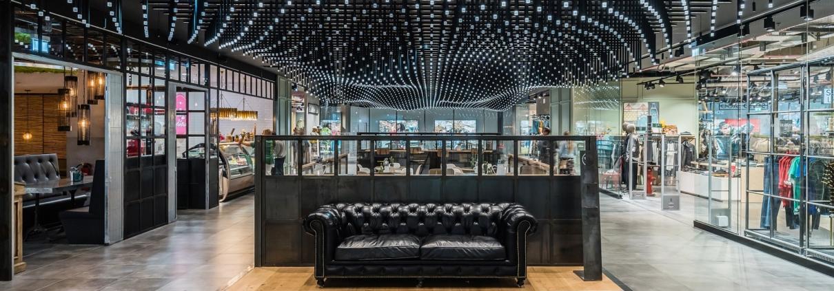 Breathtaking mall design in the LAGO shopping centre